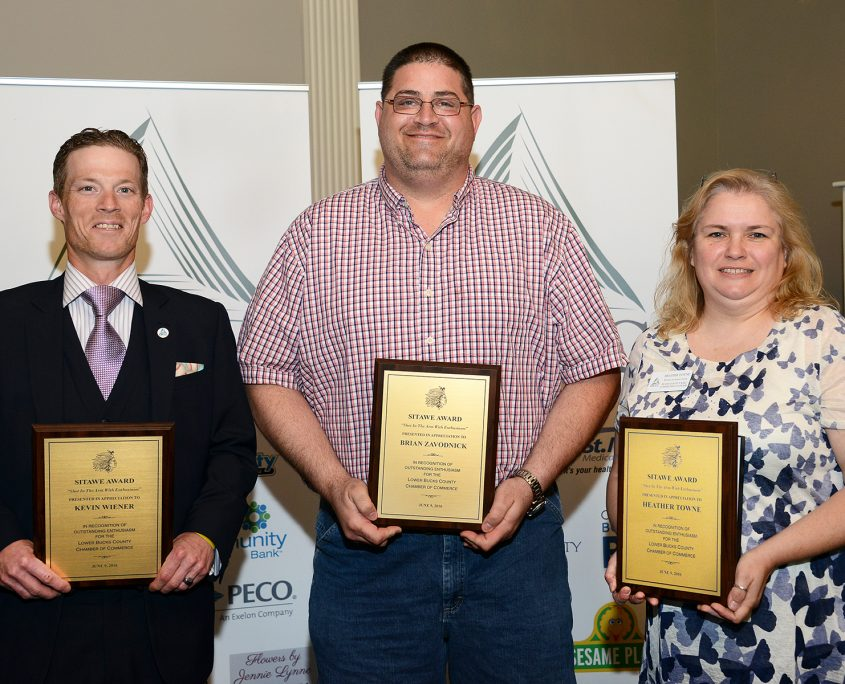 2016 Sitawe Awardees, Kevin Wiener, Brian Zavodnick, Heather Towne